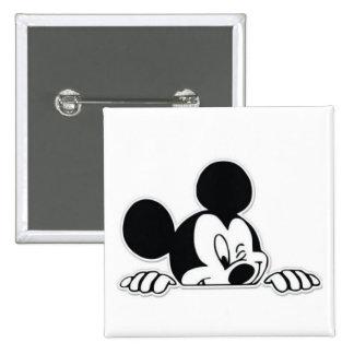 Peeking Micky 15 Cm Square Badge