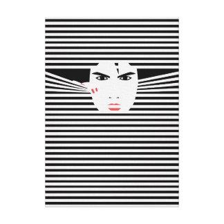 Peeking one (impediment) canvas print