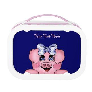 Peeking Piggy (customizable) Lunchbox