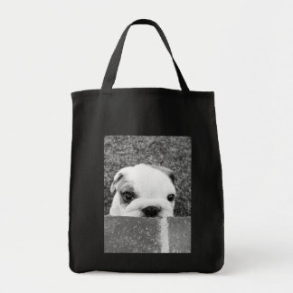 Peeking Puppy Tote Bag