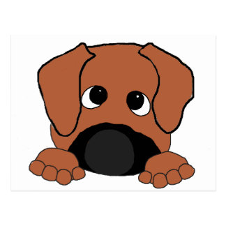 peeking rhodesian ridgeback red wheaten black nose postcard
