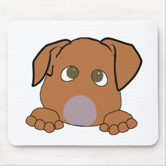 peeking vizsla mouse pad