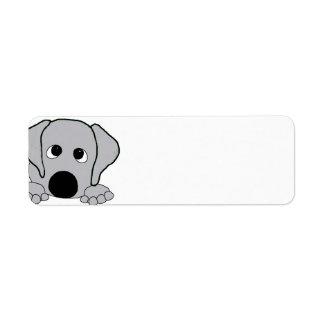 peeking wimaraner gray return address label