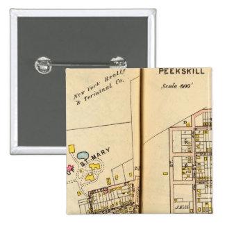 Peekskill, New York 3 15 Cm Square Badge
