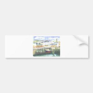Peel Harbour Isle of Man Bumper Sticker