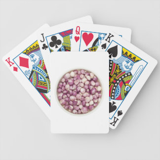 Peeled shallots bicycle playing cards