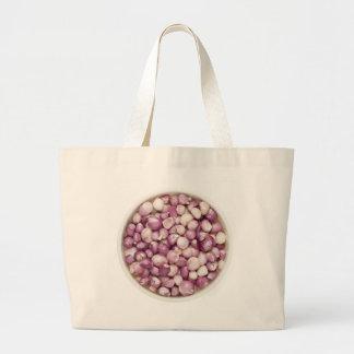 Peeled shallots large tote bag
