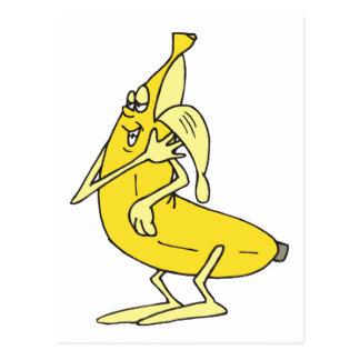 Peeling Banana Postcard