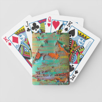 Peeling Paint Bicycle Playing Cards