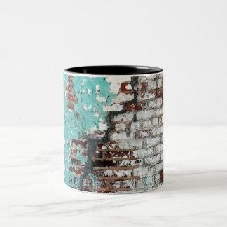 Peeling Paint Brick Wall Mug