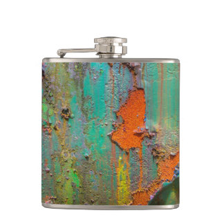 Peeling Paint Hip Flask