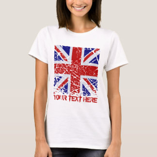 Peeling Union Jack Flag of The UK T-Shirt