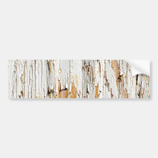 Peeling White Paint Abstract Bumper Sticker