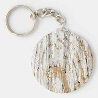 Peeling White Paint Abstract Basic Round Button Key Ring