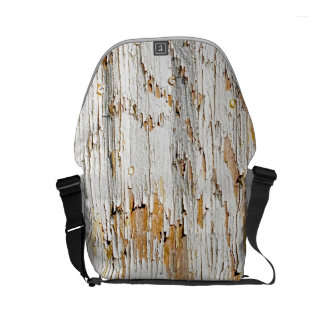 Peeling White Paint Abstract Photo Messenger Bags