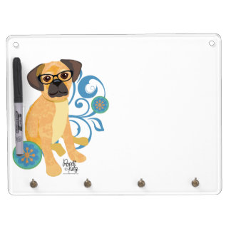 Peep Pets- Puppy Dry Erase Board With Key Ring Holder