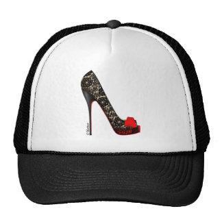Peep Toe Platform Pump Mesh Hats