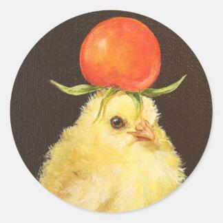 Peep with tomato hat stickers
