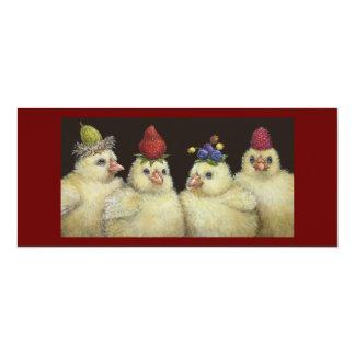 Peeps on Berry Hat Night flat card