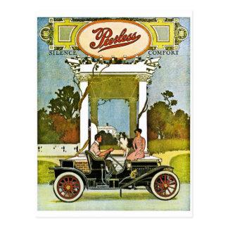 Peerless Motor Company Vintage Classic Car Ad Postcard