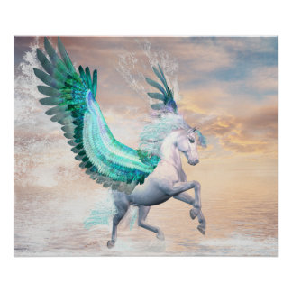 "Pegasus 24"" x 20"", Poster (Matte). Pick Your Size"