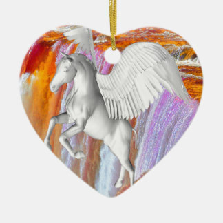 Pegasus Ceramic Heart Decoration