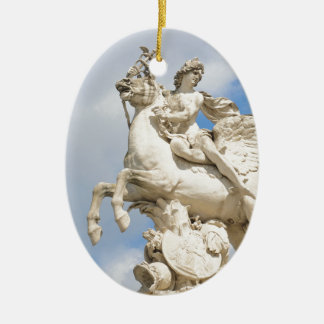 Pegasus Ceramic Oval Decoration