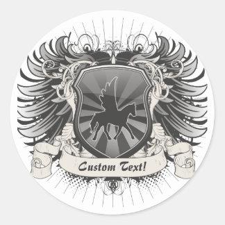 Pegasus Crest Classic Round Sticker