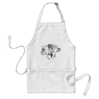 Pegasus drawing - Flying Horse with Wings Standard Apron