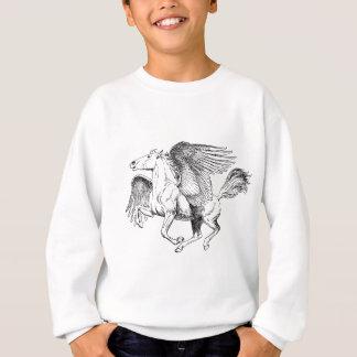 Pegasus drawing - Flying Horse with Wings Sweatshirt