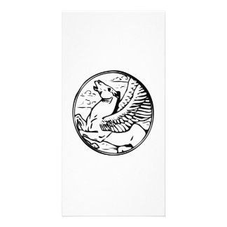Pegasus Flying Horse Custom Photo Card