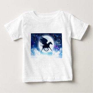 Pegasus flying moon silhouette baby T-Shirt