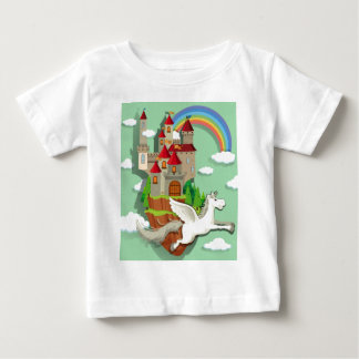 Pegasus flying over the palace baby T-Shirt