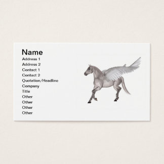 Pegasus Galloping through Storm Clouds Business Card