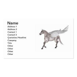 Pegasus Galloping through Storm Clouds Business Cards