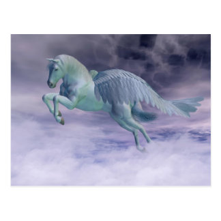 Pegasus Galloping through Storm Clouds Postcard