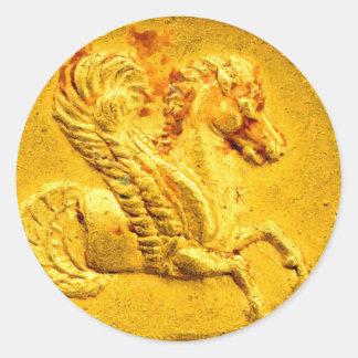 Pegasus Gold Coin Award Stickers