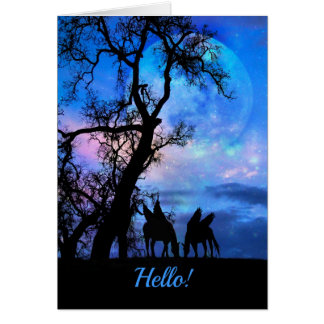 Pegasus Hello Hi Keeping in Touch Card