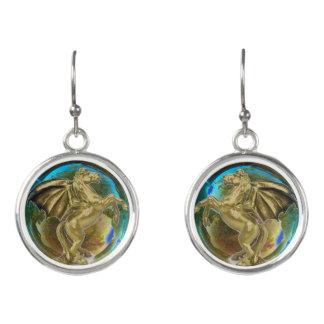 Pegasus in a Bubble Earrings