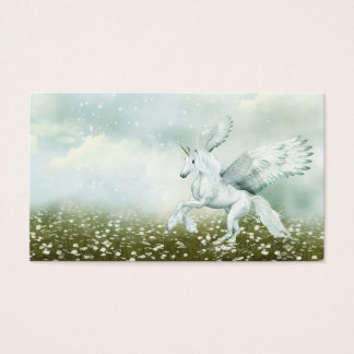 Pegasus in daisies business card