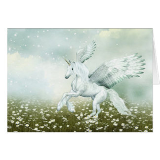 Pegasus in daisies card