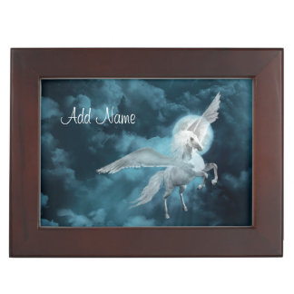 Pegasus in moonlight keepsake box