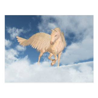 Pegasus Looking Down Through Clouds Postcard