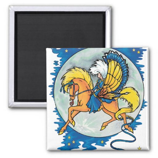 pegasus night rider magnet