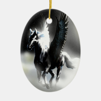 Pegasus of the Moon Ceramic Ornament