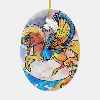 PEGASUS PANACHE CERAMIC OVAL DECORATION