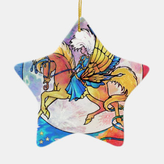 PEGASUS PANACHE CERAMIC STAR DECORATION