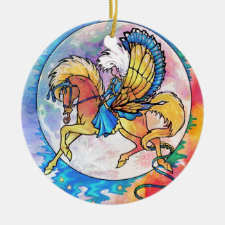 PEGASUS PANACHE ROUND CERAMIC DECORATION