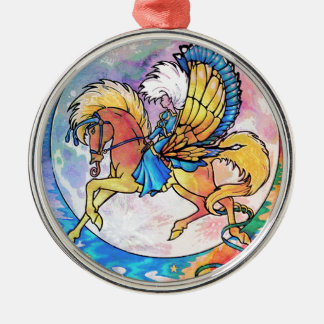 PEGASUS PANACHE Silver-Colored ROUND DECORATION