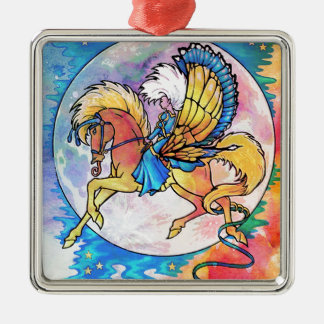 PEGASUS PANACHE Silver-Colored SQUARE DECORATION